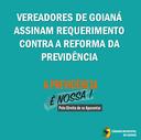 Vereadores de Goianá assinam requerimento contra a Reforma da Previdência